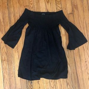 Zara Small Black Off The Shoulder Dress